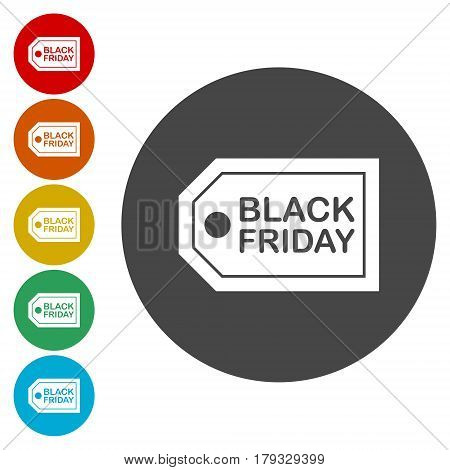 Black Friday Sale Abstract Vector Illustration on white background