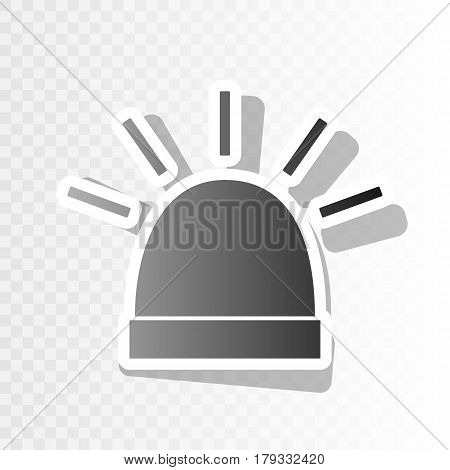 Police single sign. Vector. New year blackish icon on transparent background with transition.