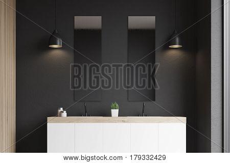 Double Sink, Black Wall