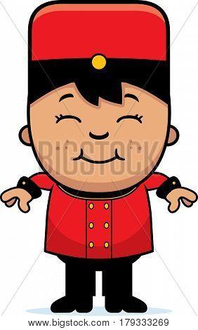 Smiling Cartoon Bellhop