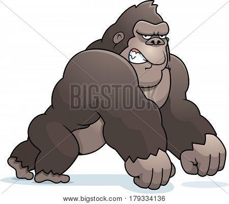 Cartoon Gorilla Walking