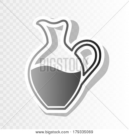Amphora sign. Vector. New year blackish icon on transparent background with transition.