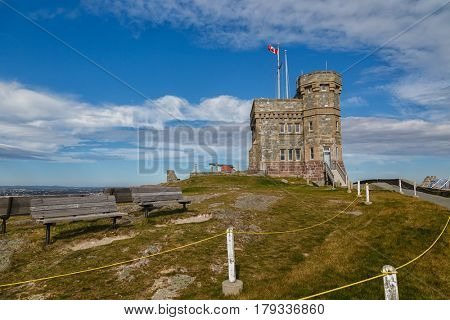 Cabot Tower on Signal Hill, St. John's, Newfoundland, Canada