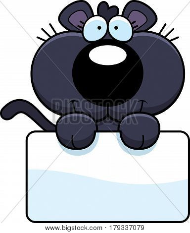 Cartoon Panther Sign