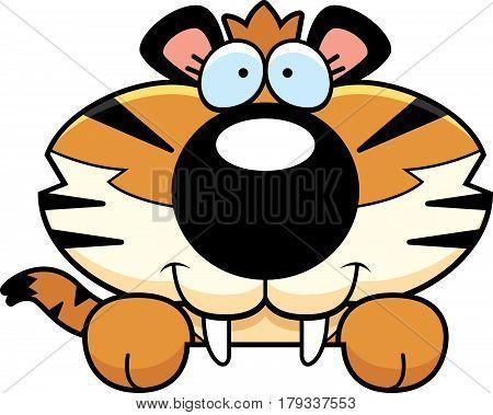 Saber-toothed Tiger Peeking