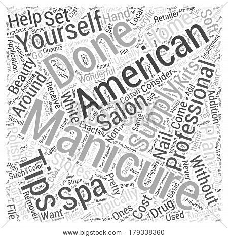 Whats an American Manicure Word Cloud Concept