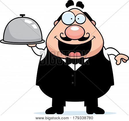Cartoon Waiter Tray