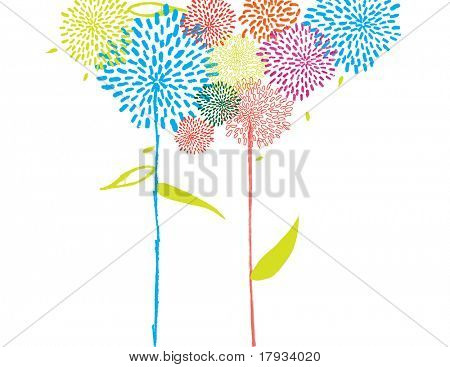 Whimsical Graphics Floral Background