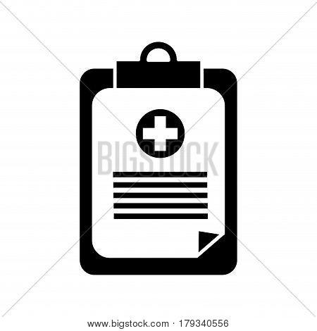 contour hospital prescription pad icon, vector illustration