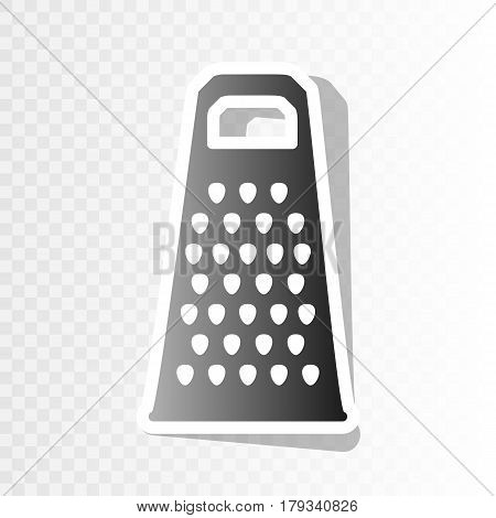 Cheese grater sign. Vector. New year blackish icon on transparent background with transition.