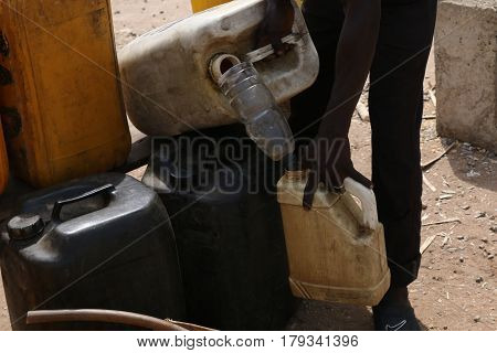 Fuel Scarcity in Nigeria Makes People Buy From Black Market