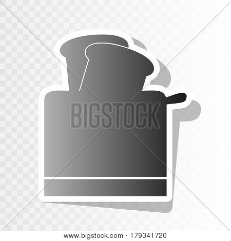 Toaster simple sign. Vector. New year blackish icon on transparent background with transition.