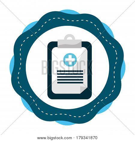 sticker hospital prescription pad icon, vector illustration