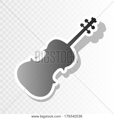 Violine sign illustration. Vector. New year blackish icon on transparent background with transition.