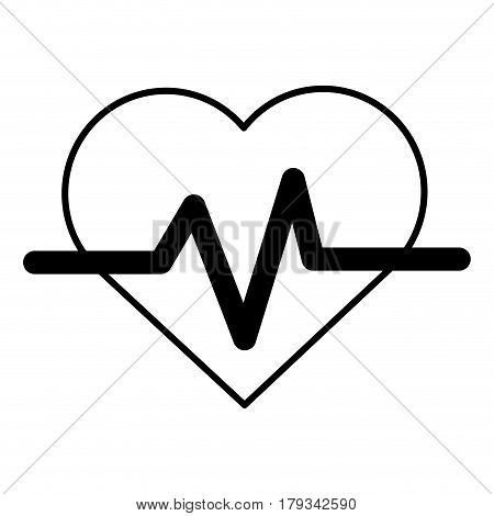 contour heartbeat cardio vital sign, vector illustration