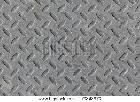 metal texture wrap around diamond pattern non-skid gray seamless background