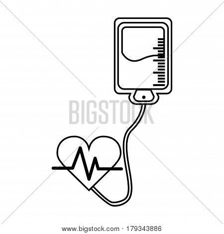 figure blood donation medical transfusion, vector illustration design