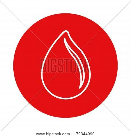 red symbol drop blood donation transfusion, vector illustration