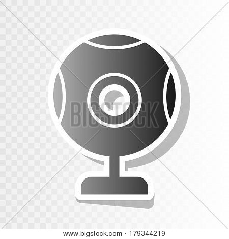 Chat web camera sign. Vector. New year blackish icon on transparent background with transition.