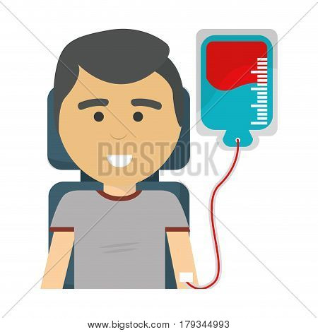 man donating blood icon image, vector illustration design