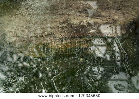 Abstract Background: Distorted Reflection In The Water.