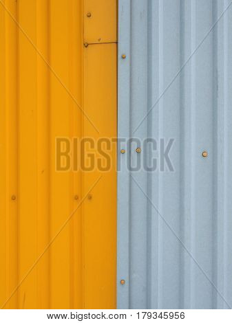Metal Sheet, Colorful Paneling For Walls, Bright Yellow On The Left And Right Side Gray, Yellow Scre