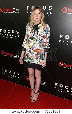 LAS VEGAS-MAR 29: Actress Kirsten Dunst attends the Focus Features presentation at Caesars Palace during CinemaCon on March 29, 2017 in Las Vegas, Nevada.
