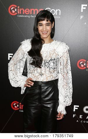 LAS VEGAS-MAR 29: Actress Sofia Boutella attends the Focus Features presentation at Caesars Palace during CinemaCon on March 29, 2017 in Las Vegas, Nevada.