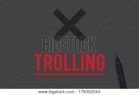 Cyber Bullying Abasement Harassment Trolling