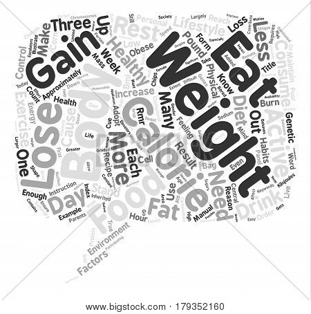 Why Do We Gain Weight text background word cloud concept