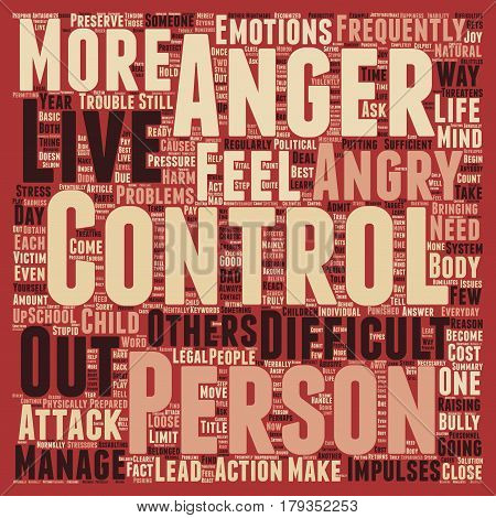 Why Do We Need to Control Anger text background wordcloud concept