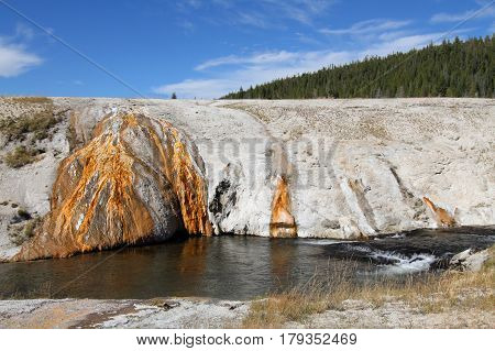 Biscuit Basin In Yellowstone National Park in Wyoming