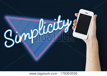 Simplicity Contemporary Design Word Graphic