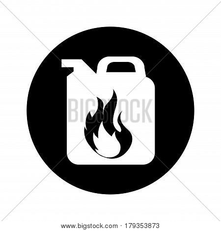 gallon with flame isolated icon vector illustration design