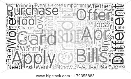 Why Get A Low Apr Credit Card Word Cloud Concept Text Background