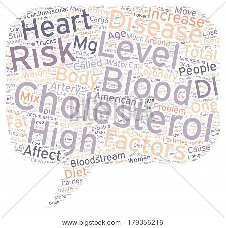 Why High Blood Cholesterol Is Dangerous text background wordcloud concept