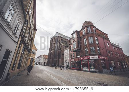 Shopping Street In Haderslev City