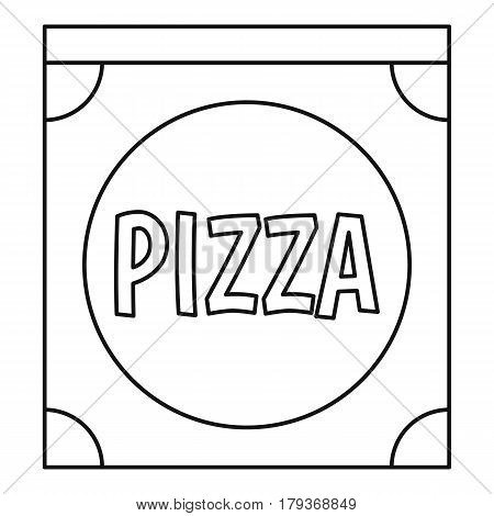 Pizza box icon. Outline illustration of pizza box vector icon for web