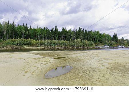Taiga river Big Yugan in the vicinity of the village Ugut Siberia