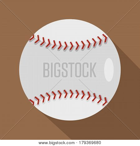 Ball for playing baseball icon. Flat illustration of ball for playing baseball vector icon for web isolated on coffee background