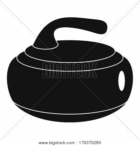 Curling stone icon. Simple illustration of curling stone vector icon for web