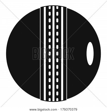 Black and white cricket ball icon. Simple illustration of black and white cricket ball vector icon for web