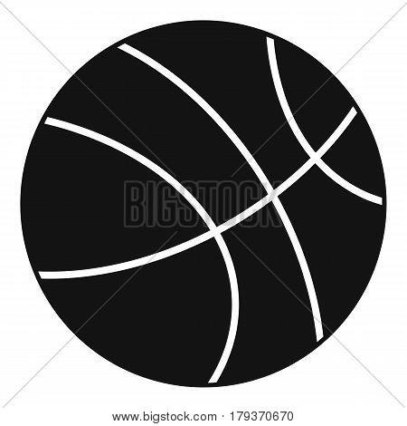 Basketball ball icon. Simple illustration of basketball ball vector icon for web