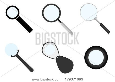 Magnifying glass icon. Flat design vector illustration vector.