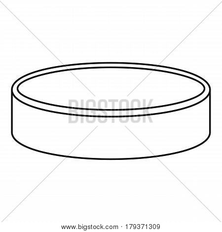 Puck for playing ice hockey icon. Outline illustration of puck for playing ice hockey vector icon for web