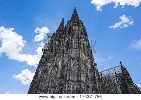 Close Up View Of Cologne Cathedral In Cologne, Germany