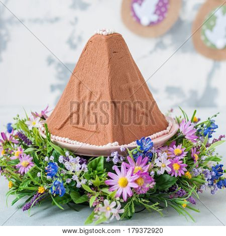 Easter Chocolate Quark Dessert, Paskha