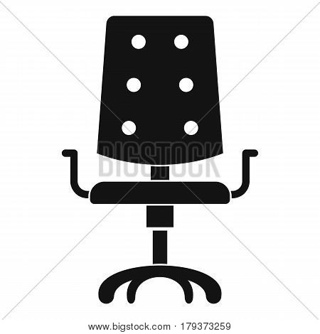Office chair icon. Simple illustration of office chair vector icon for web