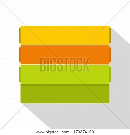 Colorful wallpapers icon. Flat illustration of colorful wallpapers vector icon for web isolated on white background