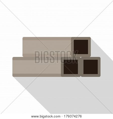 Square metal tubes icon. Flat illustration of square metal tubes vector icon for web isolated on white background